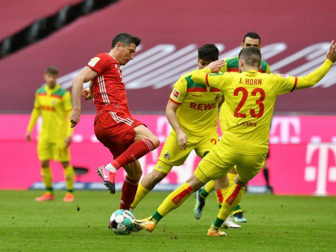 Lewandowski mit Doppelpack gegen Köln