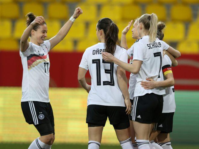Fußballerinnen starten mit Sieg ins Länderspieljahr