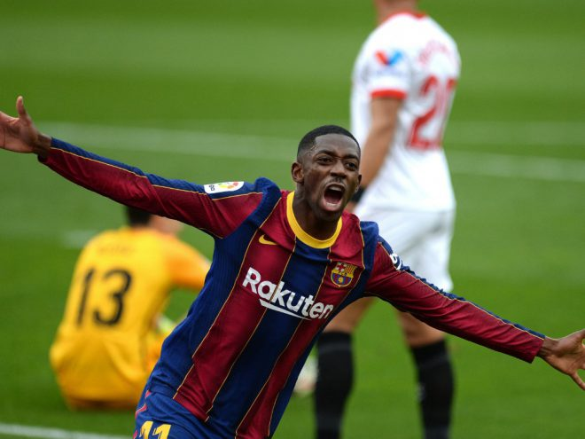 Ousmane Dembele und Barcelona bezwingen Sevilla 2:0