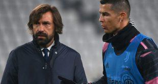 Juventus-Trainer Pirlo (l.) und Topstar Ronaldo