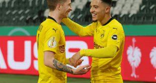 Jubel über den Siegtreffer: Reus und Torschütze Sancho