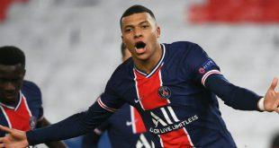 PSG Star Mbappe bejubelt seinen Treffer zum 1:0