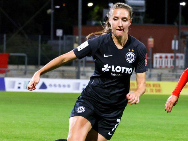 Lara Prasnikar rettet der SGE einen Punkt gegen Meppen