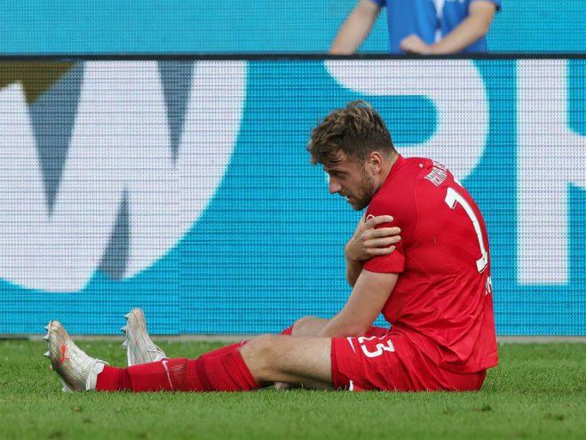 Lukas Klünter verletzte sich an der Schulter