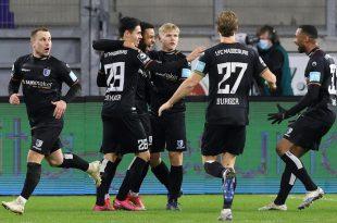 Jubel über die Führung beim 1. FC Magdeburg