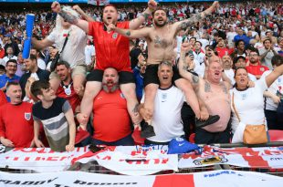 Englische Fans während dem EM-Finale gegen Italien